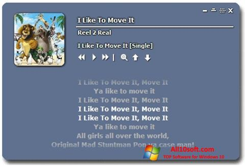 Στιγμιότυπο οθόνης Minilyrics Windows 10