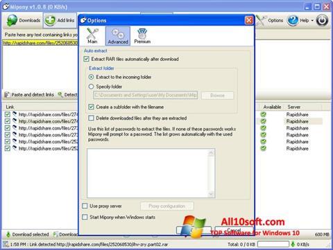Στιγμιότυπο οθόνης Mipony Windows 10