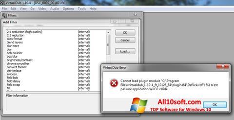 Στιγμιότυπο οθόνης VirtualDub Windows 10