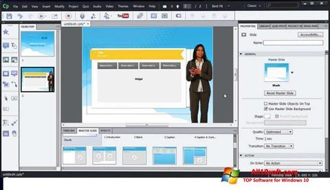 Στιγμιότυπο οθόνης Adobe Captivate Windows 10