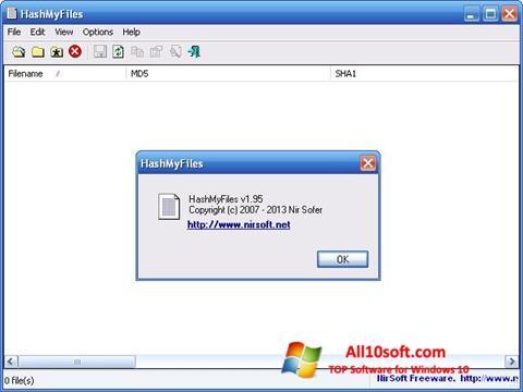 Στιγμιότυπο οθόνης HashMyFiles Windows 10