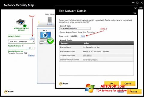 Στιγμιότυπο οθόνης Norton Internet Security Windows 10